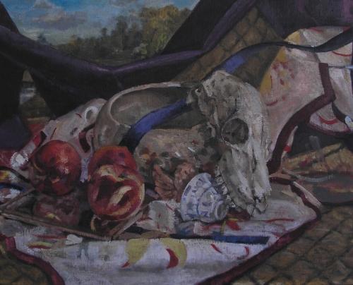 Goat Skull with Purple, 2013